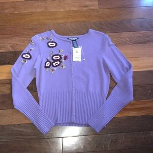 Women's Size Small Bisou Bisou Embroiderd Sweater